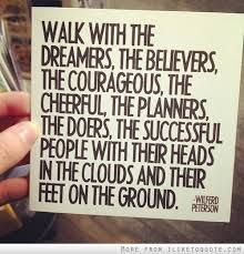 Image result for surround yourself with the believers and the doers