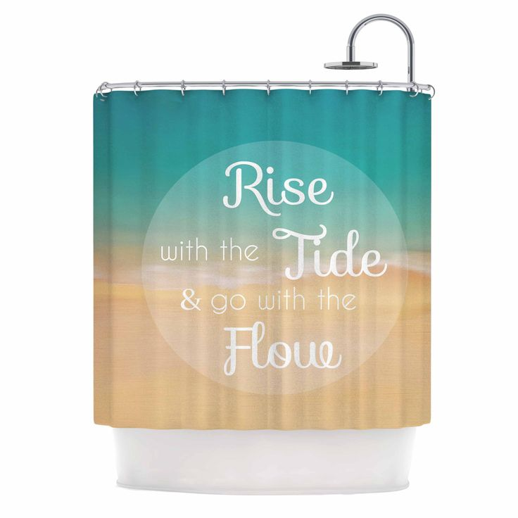 "Kess InHouse Alison Coxon ""Rise With The Tide"" Teal Brown Shower Curtain"