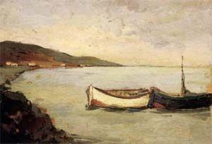 Giovanni Bartolena Marina a Castiglioncello (1925-1930) olio su tavola, cm 26x37,8