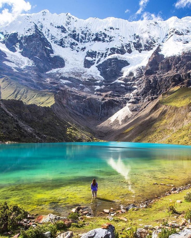 "theadventurouslife4us: ""#adventure , Unreal sight! 🌍 | Humantay Lake, Peru | 📸 Jacob Moon Photography """