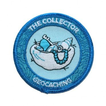 7SofA Patch: The Collector $4.00 USD  Are you someone who is unswayed by the 'mainstream' and find joy in the geocaching underground? Do you have a collection of rare books and enjoy spending time seeing foreign films?  If this sounds like you or someone you know, celebrate with this cool The Collector patch!  Find a Virtual Cache, Wherigo, Letterbox Hybrid or Webcam Cache to earn the Collector souvenir.