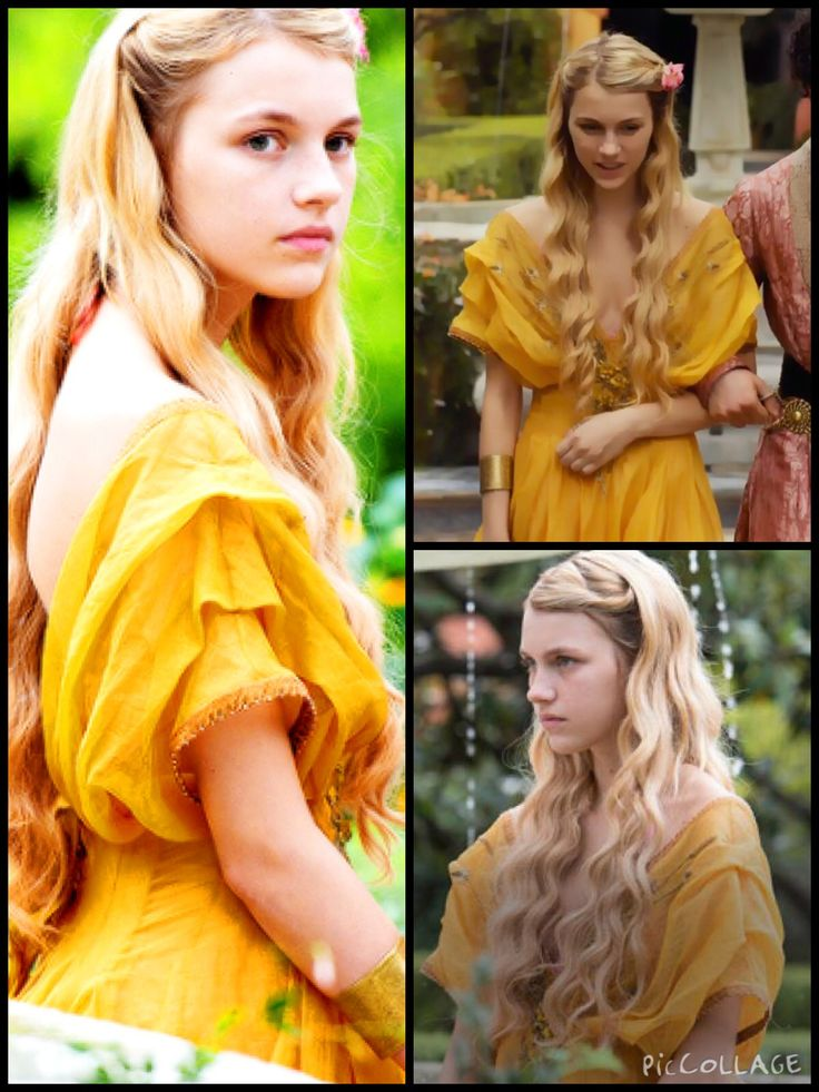 Bloody love Myrcella Lannister's yellow dress in Series 5. The off-shoulder sleeves are stunning.