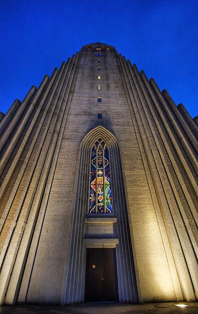 Reykjavik, Iceland - the biggest church in Iceland named after one of our greatest poets and priest Hallgrimur Pétursson - Hallgrímskirkja (the church of Hallgrimur)