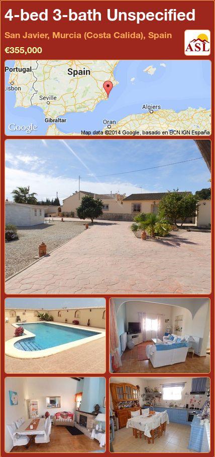 4-bed 3-bath Unspecified in San Javier, Murcia (Costa Calida), Spain ►€355,000 #PropertyForSaleInSpain