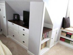 12. Storage Tucked in an Attic Bedroom
