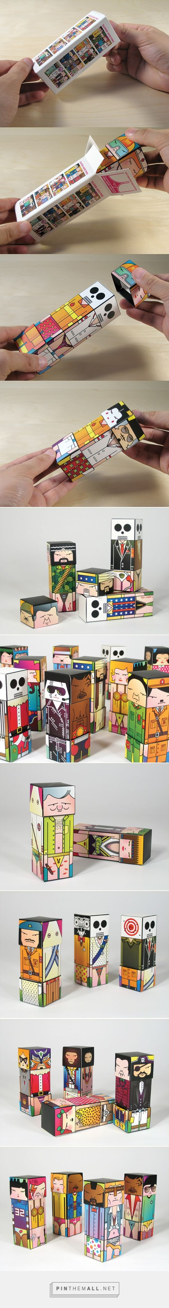 Super-Bastard Box Art Characters on Behance via undoboy curated by Packaging Diva PD. Super-Bastard Box Art Characters designed, illustrated concept packaging for their first designer toy : )