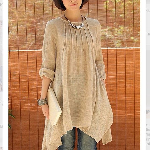 Wow adore this fabulous tunic. @Etsy.com  Crinkle chest irregular hemline linen tunic. This should definitely be in my wardrobe. Love the soft creme colour and wear this dressy or casual. So soft and feminine!! All ages can wear this!!! #40plusstyle#styleover50 #casualstyle#50plusandfabulous#casuallook#agelessdressing#agelessfashion#advancedstyle#femininedressing#pastels#neutrals#look