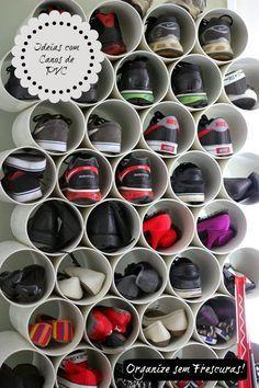 Organize sem Frescuras   Rafaela Oliveira » Arquivos » Ideias criativas utilizando canos de PVC