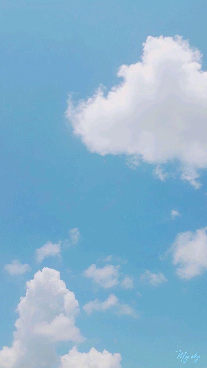 Katok Tapete Hintergrundbild Katok Peusa Naver Blog Blue Sky Wallpaper Background Pictures Sky Aesthetic Aesthetic blue sky wallpaper iphone
