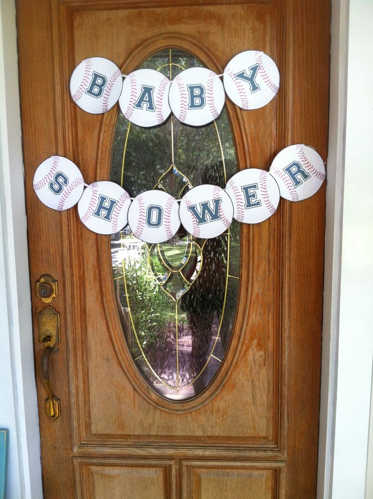 """""""Lil Slugger"""" Baby Shower for my sister."""