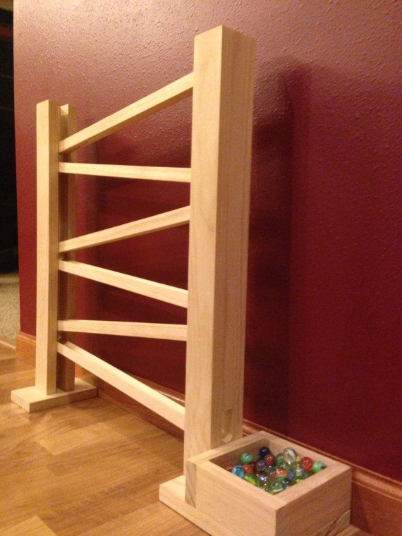Handmade Wooden Marble Run by PackerBackers on Etsy