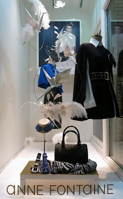Anne fontaine london the art of window dressings for Commercial interior design london