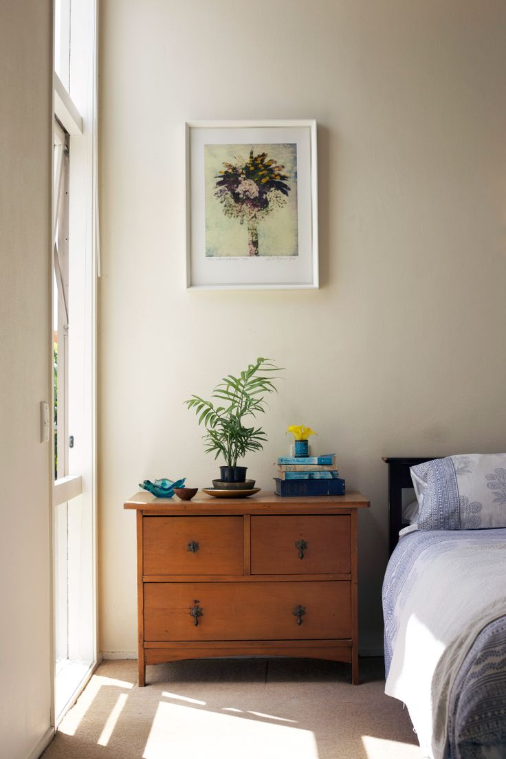Love the serenity of this bedroom. Styling by PlacesandGraces.
