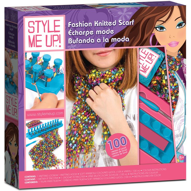 Aquastone Group Style Me Up Fashion Knitted Scarf Kit-