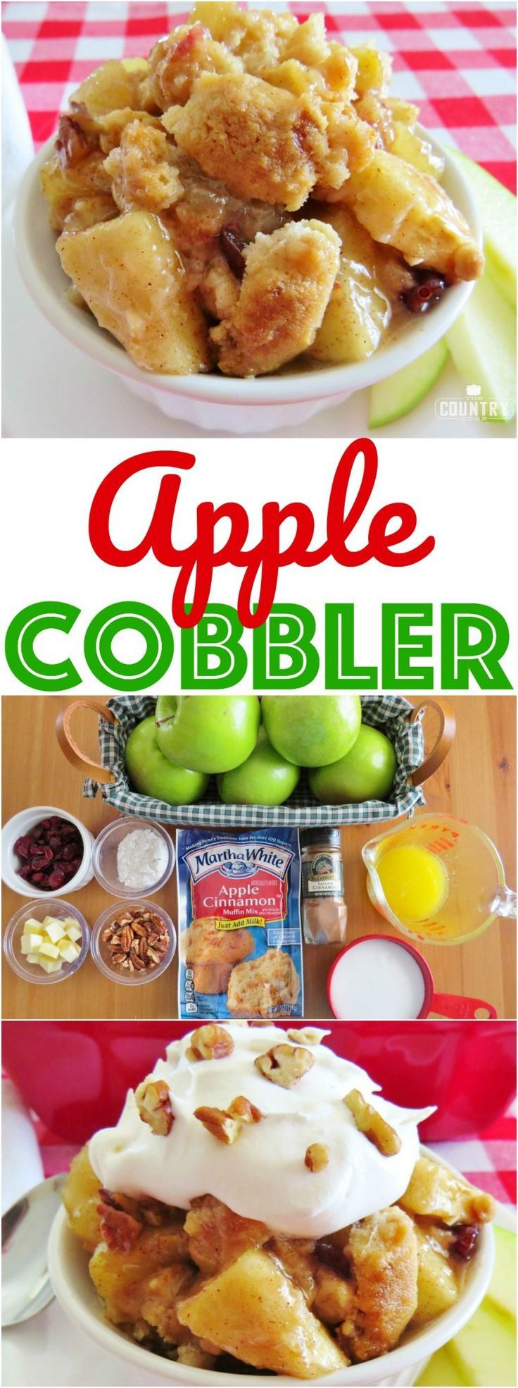 Easy Apple Cobbler recipe from The Country Cook