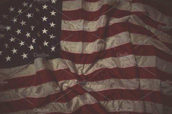 Heritage American Flag by Rad Radio Graphics on @creativemarket
