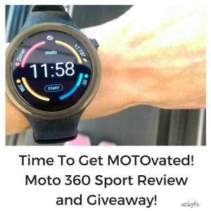 Check out my Moto 360 Sport Watch Review and enter to win your own in the giveaway! This watch is more than just GPS: it is perfect for marathon training to just living a fit and healthy life. Get the details at Suzlyfe.com