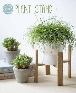 DIY Anleitung auf Deutsch für einen kleinen Plant Stand