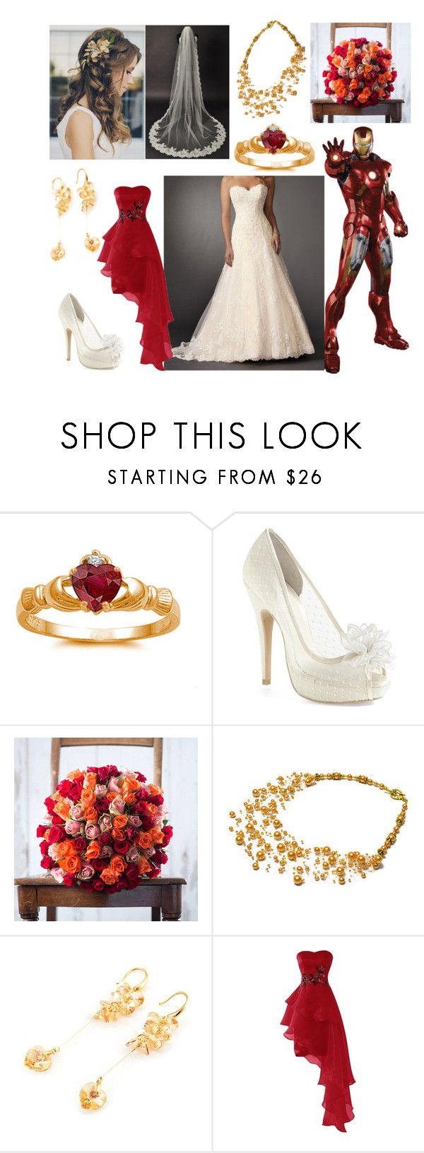 """Iron Man's Wedding"" by blackest-raven ❤ liked on Polyvore featuring Fidelity and Menbur"