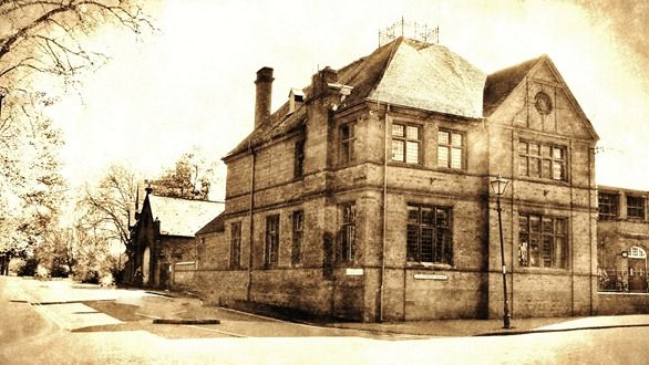 Edit was with Fotosketcher. Town Hall, Darlaston