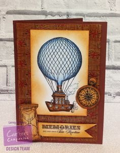 Card made using Sheena Douglass Time Travellers stamp set 'Time machine' with Spectrum Noir ColourBlend pencils. Designed by Laney Delaney. #crafterscompanion #spectrumnoir