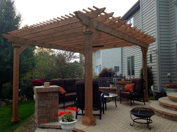 Pergola Design Over Patio By Homer Glen, IL Pergola Builder