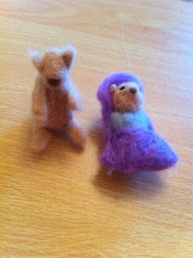 First attempt to needle felting :)