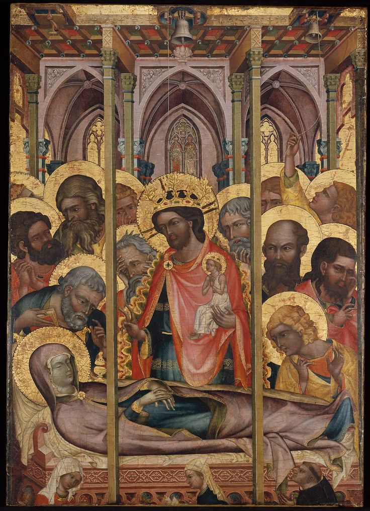 Dormition of the Virgin about 1350–60 Unidentified artist, Bohemian (Prague), mid 14th century, Bohemian (Prague)