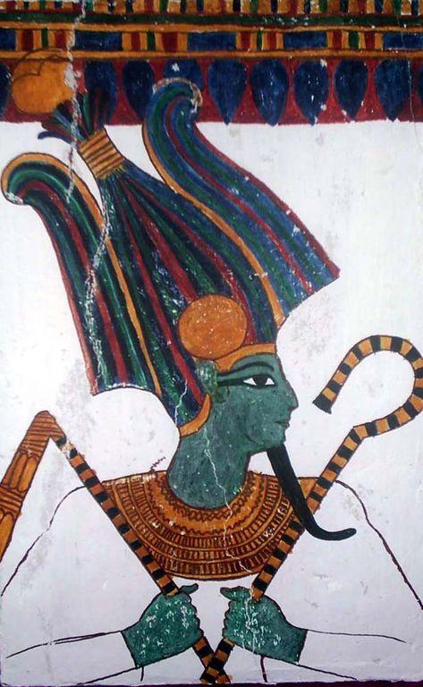 Osiris : dieu du panthéon égyptien et un roi mythique de l'Égypte antique. Inventeur de l'agriculture et de la religion, son règne est bienfaisant et civilisateur. Il meurt noyé dans le Nil, assassiné dans un complot organisé par Seth, son frère cadet. Malgré le démembrement de son corps, il retrouve la vie par la puissance magique de ses sœurs Isis et Nephtys. Le martyre d'Osiris lui vaut de gagner le monde de l'au-delà dont il devient le souverain et le juge suprême des lois de Maât.