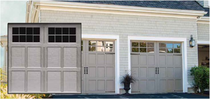 Carriage House Garage Doors - Beautifully blend of Old World Carriage House Door with the Durability of Steel.   https://overheaddoorofcharlotte.com/residential-garage-doors/carriage-house-garage-doors/