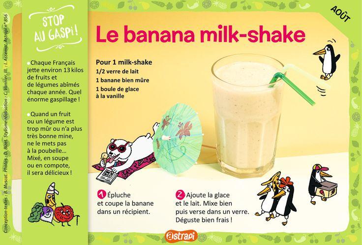 Le banana milk-shake : une recette facile pour les enfants de 7 à 11 ans avec…