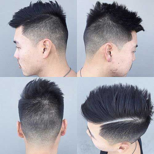 Faded Hairstyles Asian Men