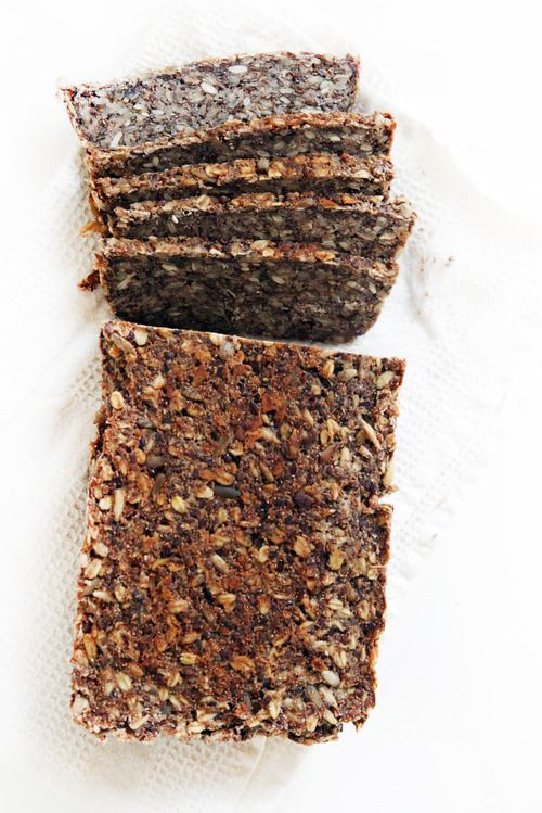 Super Grains Power Bread / 2 cups old fashioned oats (use gluten-free oats if necessary) 1 cup quick cooking oats (use gluten-free oats if necessary) 1/3 cup quinoa flour 1/3 cup teff 1 cup sunflower seeds ½ cup flax seeds 2 tbsp. chia seeds 4 tbsp. psyllium husks 1 ½ tsp. kosher or sea salt 1 tbsp. maple syrup 4 tbsp. coconut oil, melted, plus more for greasing 2 cups warm water