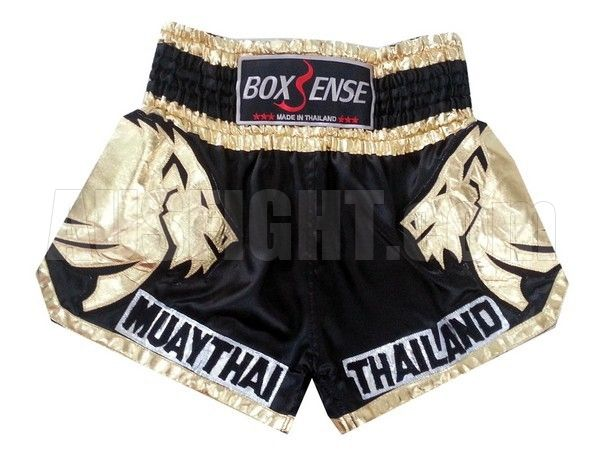 Boxsense Muay Thai Fight Shorts : BXS-303-Gold