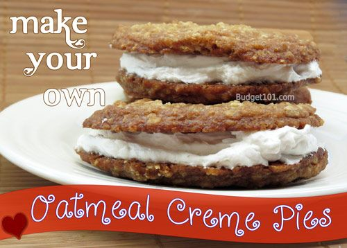 Copycat Oatmeal Creme Pies- If you loved those delightful Lil' Debbie Oatmeal Creme pies as a kid, you'll really love this money saving recipe.