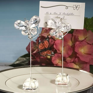 butterly themed wedding place card holders