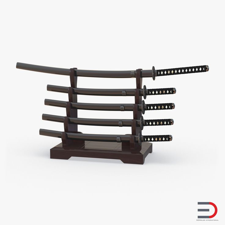 Japanese Sword Katana Display Rack Stand 5 Pcs Set