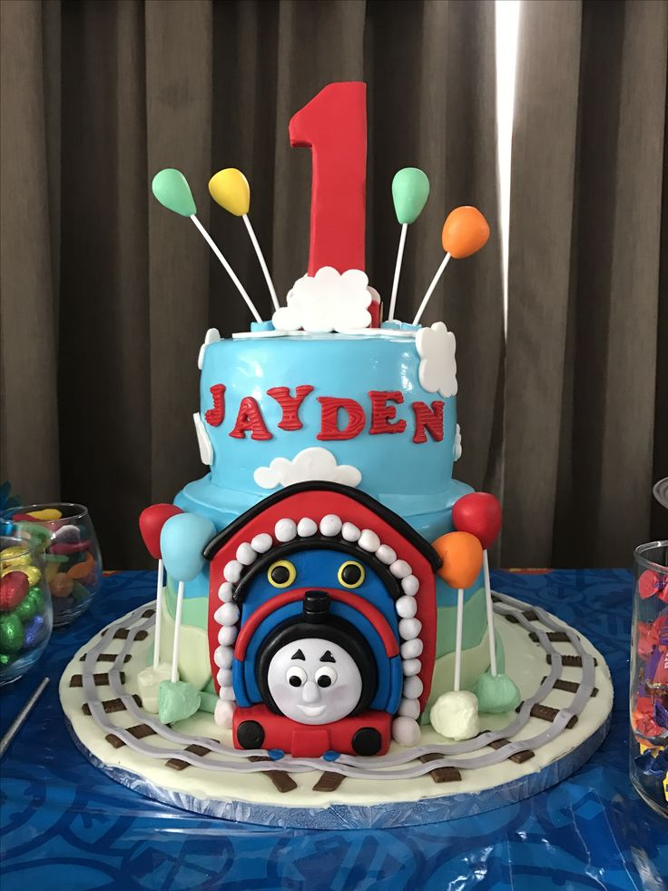 Thomas the train inspired cake