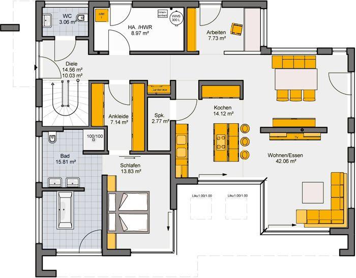 588 besten h user und baupl ne nach meinem geschmack bilder auf pinterest grundriss bungalow. Black Bedroom Furniture Sets. Home Design Ideas