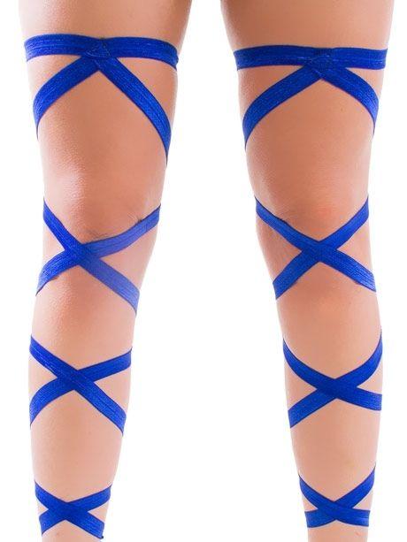 RaveReady Blue Leg Wraps : Rave Fluffies Wraps