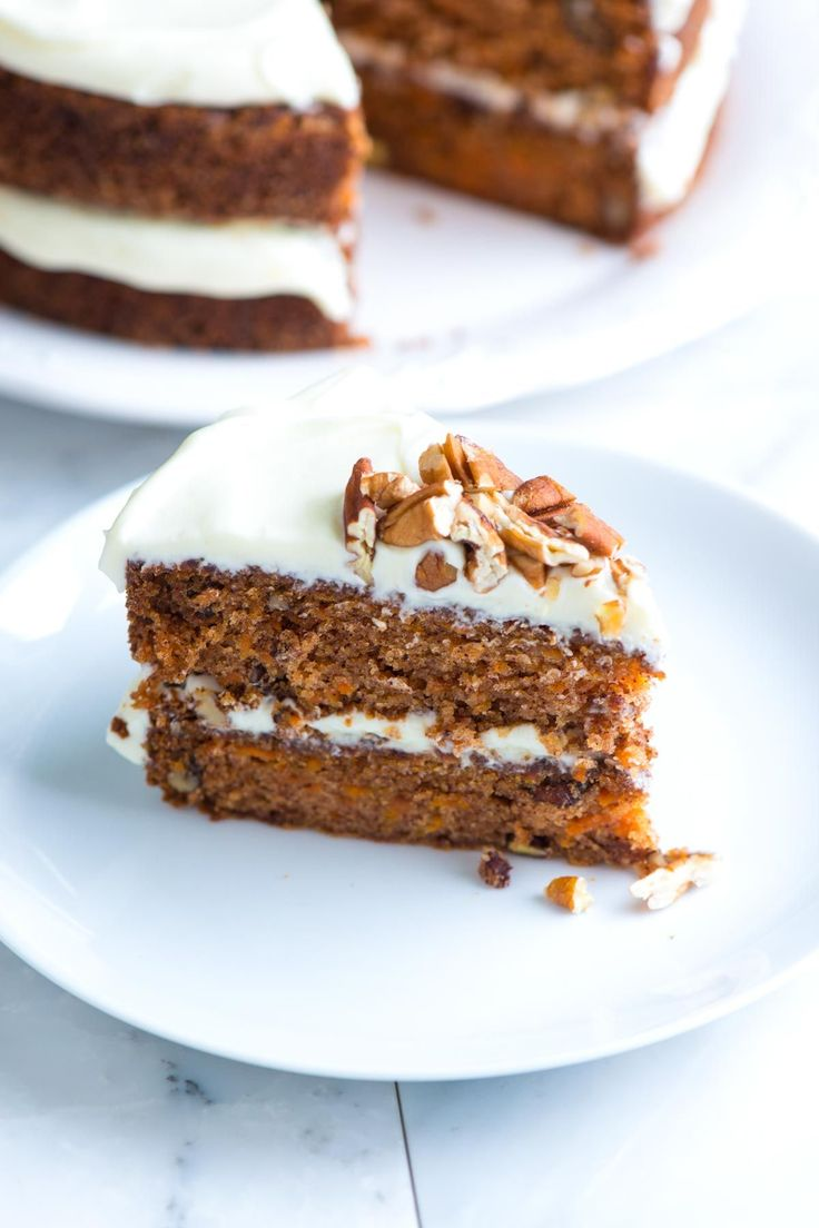 An incredibly moist carrot cake with its ultra-creamy cream cheese frosting