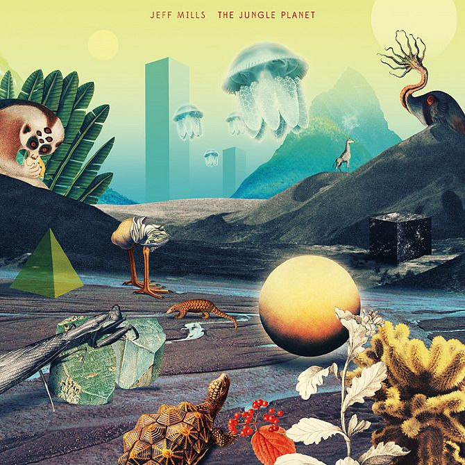 Jeff Mills - The Jungle Planet - Julien Pacaud • Illustration • Perpendicular Dreams
