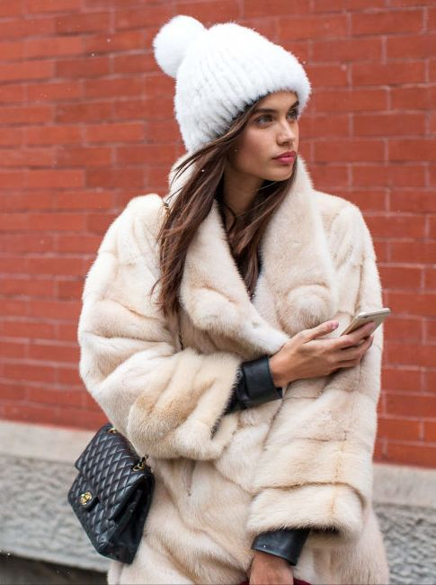Photo (LA COOL & CHIC) | Fur and leather textures ( faux of course ;) ) Looks so warm and fluffy ^u^