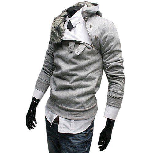 Hoher Kragen männlicher Kapuzenpullover mit schrägem Knoepfen Slim Fit Pulli Fashion Season, http://www.amazon.de/dp/B00HIYY29Q/ref=cm_sw_r_pi_dp_tgRjtb1Z6RCNK