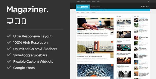Magaziner - Responsive WordPress Magazine Theme - News / Editorial Blog / Magazine