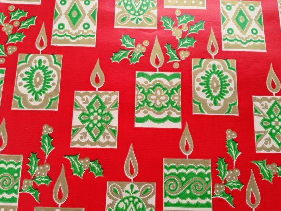 Vintage Christmas Gift Wrapping Paper  Gold by TheGOOSEandTheHOUND, $6.00