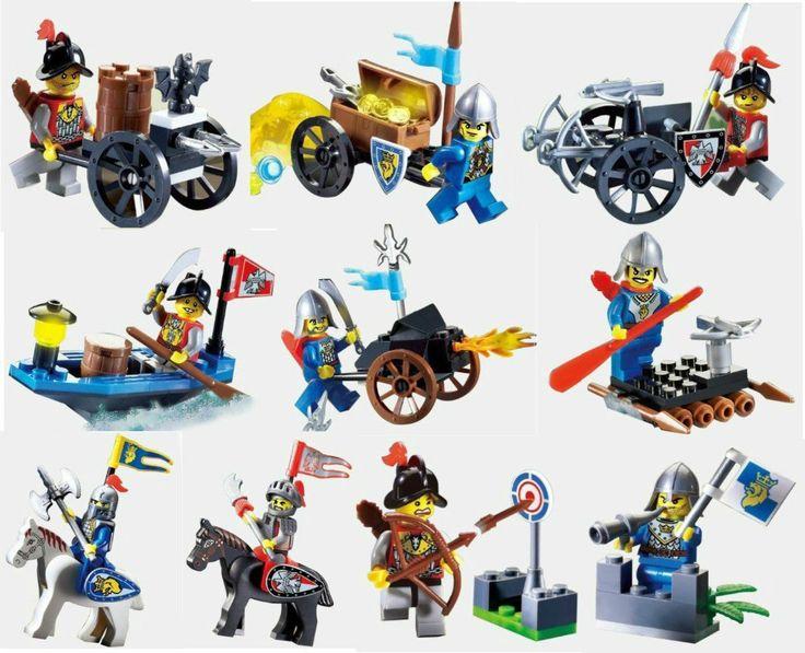 $10.68 (Buy here: https://alitems.com/g/1e8d114494ebda23ff8b16525dc3e8/?i=5&ulp=https%3A%2F%2Fwww.aliexpress.com%2Fitem%2F10pcs-Castle-Series-Knights-soldier-building-block-bricks-toys-with-weapons-Minifugres-War-chariot-horse-Compatible%2F32706682159.html ) 10pcs Castle Series Knights soldier building block bricks toys with weapons fugres / War chariot / horse Compatible lepin for just $10.68