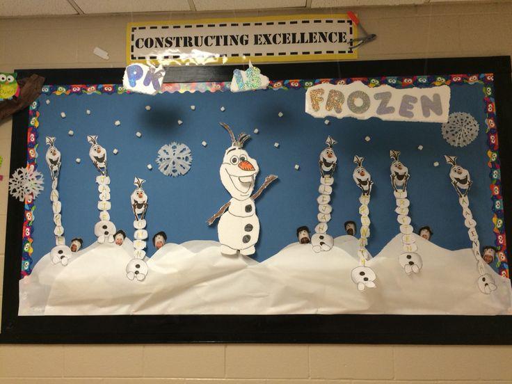 Frozen Olaf bulletin board Kindergarten