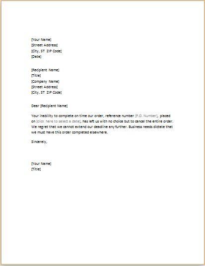 Download Canceling Order Letter at http\/\/wwwtemplatesword - order letter