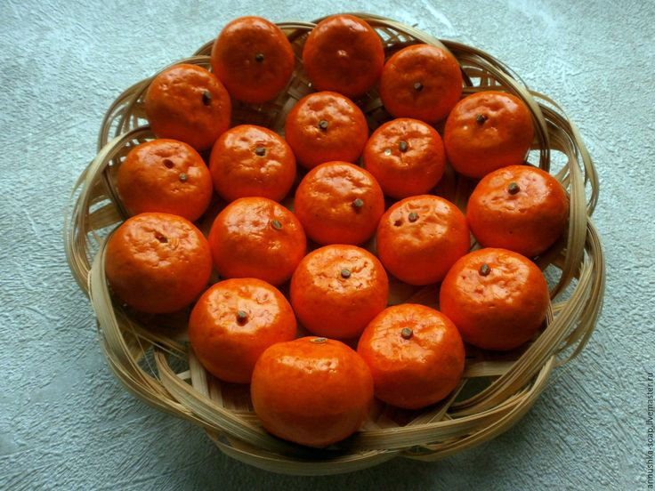 Купить Мандарин, 35 мм, топиарий, декор, пенопласт, 10 шт. - фрукты, искусственные фрукты